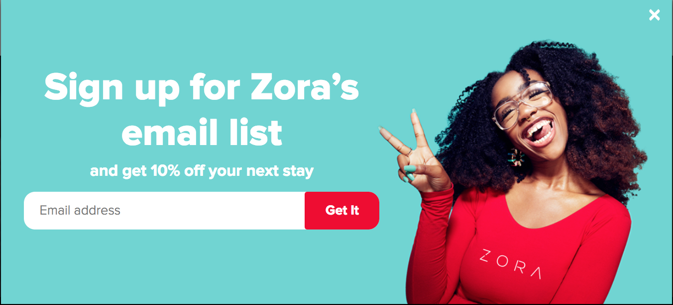 Sign up Zora